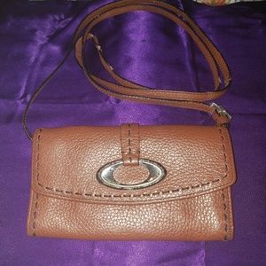 Brighton Brown Leather Crossbody wallet